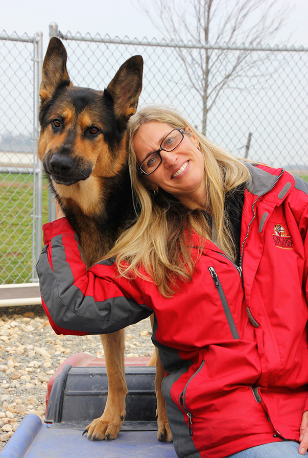 owner cassie and her german shepherd